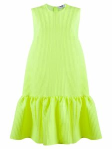 MSGM short flared dress - Yellow