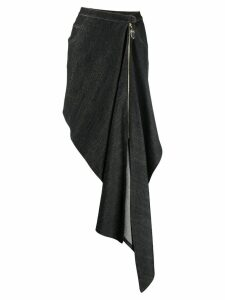 Atu Body Couture draped denim skirt - Black