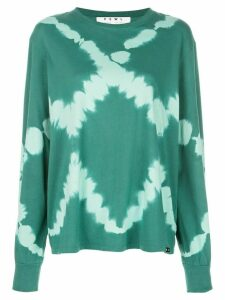 Proenza Schouler PSWL Diamond Tie Dye Long Sleeve T-Shirt - Green