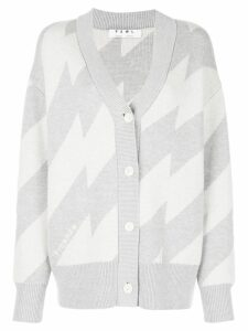 Proenza Schouler PSWL Broken Stripe Jacquard Cardigan - Grey