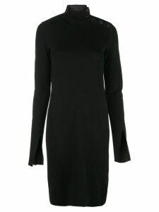Proenza Schouler Merino Knit Long Sleeve Dress - Black