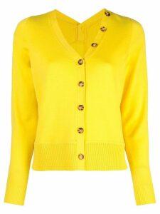 Proenza Schouler L/S Cardigan-Superfine Merino - Yellow
