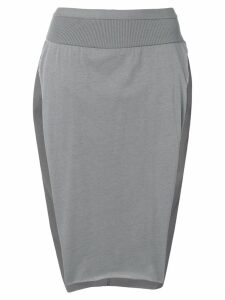 Rick Owens side slits skirt - Grey