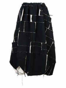 Comme Des Garçons patchwork skirt - Black