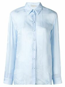 Emilio Pucci Copacabana Silk-Blend Shirt - Blue