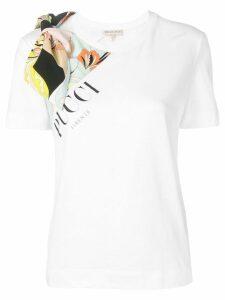 Emilio Pucci Mirabilis Print Bow Embellished T-shirt - White