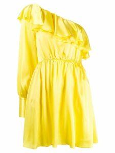 MSGM asymmetric one-sleeve dress - Yellow