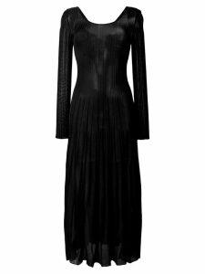 MSGM ribbed midi dress - Black