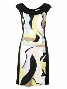 Emilio Pucci Vallauris Print Cap Sleeve Dress - Black
