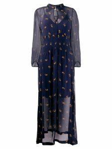 Baum Und Pferdgarten floral print sheer maxi dress - Blue