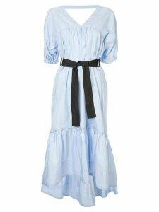 3.1 Phillip Lim Midi Poplin Flared Dress - Blue