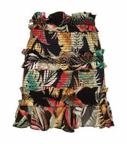 Ruffled Floral Skirt