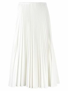 Fendi pleated midi skirt - White