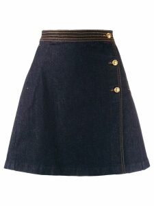 Tory Burch wrap denim skirt - Blue