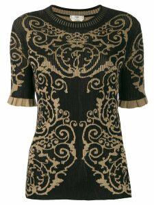 Fendi knitted brocade shirt - Black