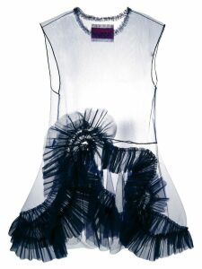 Viktor & Rolf organza sleeveless mini dress - Blue