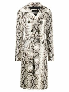 Dsquared2 python print trench coat - Neutrals