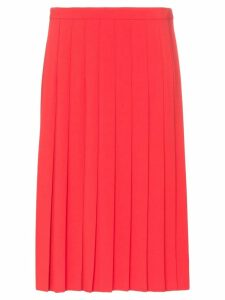Burberry Farrah pleated midi skirt - Red