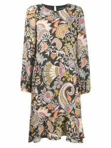 Luisa Cerano floral print midi dress - Black