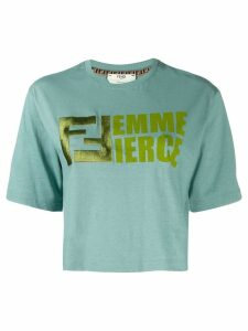 Fendi femme fierce T-shirt - Blue