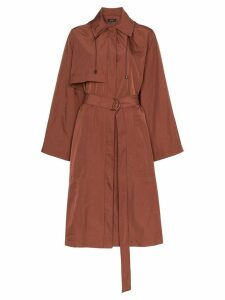 Joseph Dublin belted taffeta trench coat - Brown