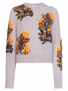 Chloé floral Intarsia sweater - Purple