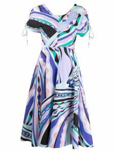 Emilio Pucci tied sleeve midi dress - Blue
