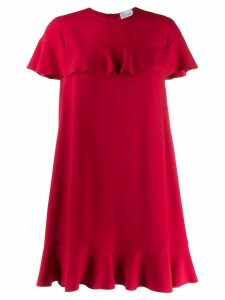 Red Valentino ruffle trimmed dress