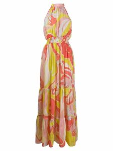 Emilio Pucci sleeveless floral maxi dress - Yellow