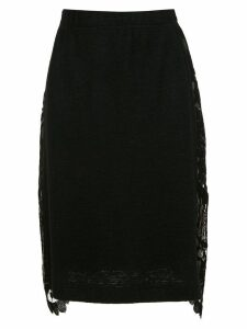 À La Garçonne lace detail pencil skirt - Black