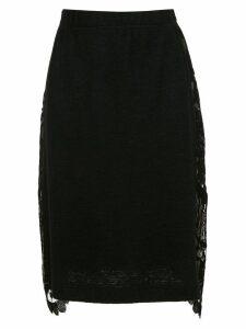À La Garçonne lace detail pencil skirt - Black
