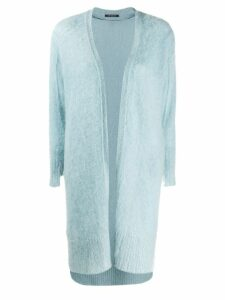 Luisa Cerano knitted cardi-coat - Blue