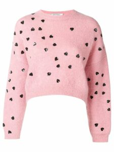 Valentino heart embellished sweater - Pink