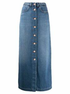 7 For All Mankind straight denim skirt - Blue
