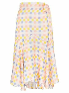 Paper London check wrap midi-skirt - Multicolour