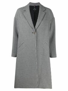 PS Paul Smith check midi coat - White