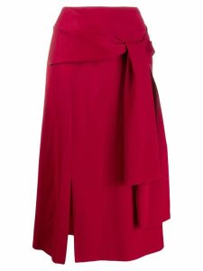 Joseph straight-fit midi skirt - Red