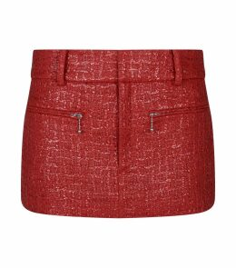 Coated Tweed Skirt