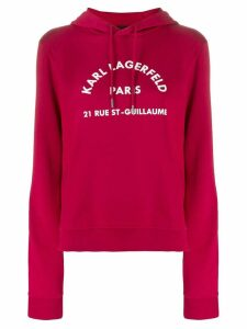 Karl Lagerfeld Address logo hoodie - Red