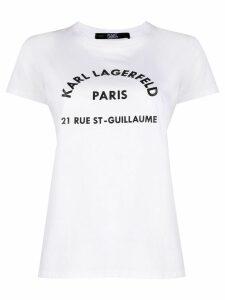 Karl Lagerfeld Address logo T-Shirt - White