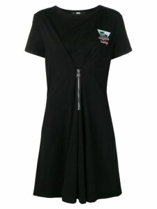 Karl Lagerfeld Karlifornia jersey zip dress - Black