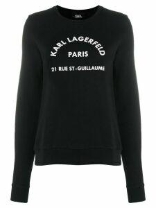 Karl Lagerfeld Address Logo hoodie - Black