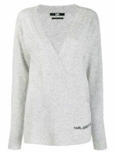 Karl Lagerfeld Rue St Guillaume wrap jumper - Grey