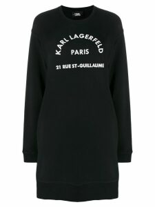 Karl Lagerfeld Rue St Guillaume sweatdress - Black