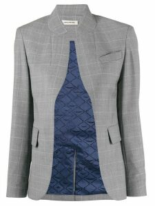 Zadig & Voltaire checked open blazer - Green