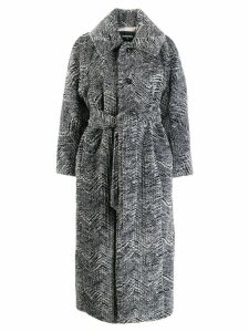 Dsquared2 faux fur belted coat - Grey
