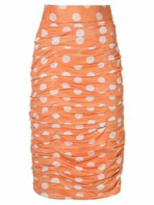 Bambah polka dot ruched skirt - Orange
