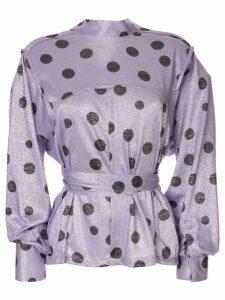 Bambah polka dot envelope blouse - PURPLE