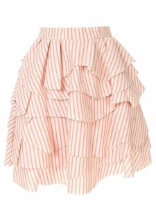 Bambah struped ruffle skirt - Orange