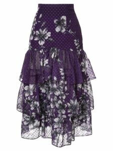 Bambah Bridget ruffle skirt - Purple